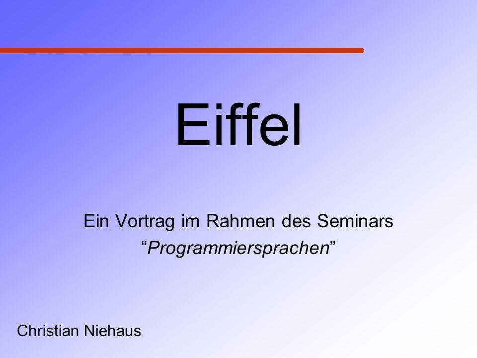 Ein Vortrag im Rahmen des Seminars Programmiersprachen