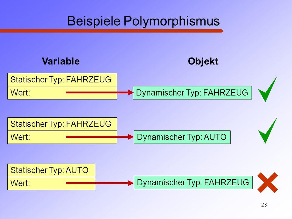 Beispiele Polymorphismus