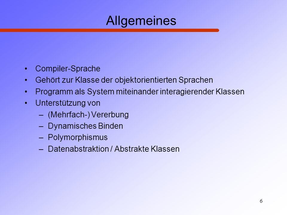 Allgemeines Compiler-Sprache