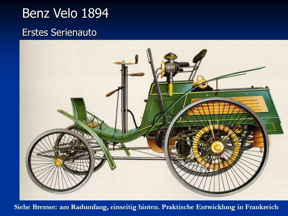 Benz Velo 1894 Erstes Serienauto
