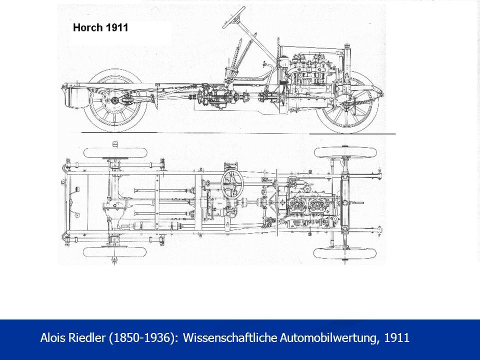 Alois Riedler (1850-1936): Wissenschaftliche Automobilwertung, 1911
