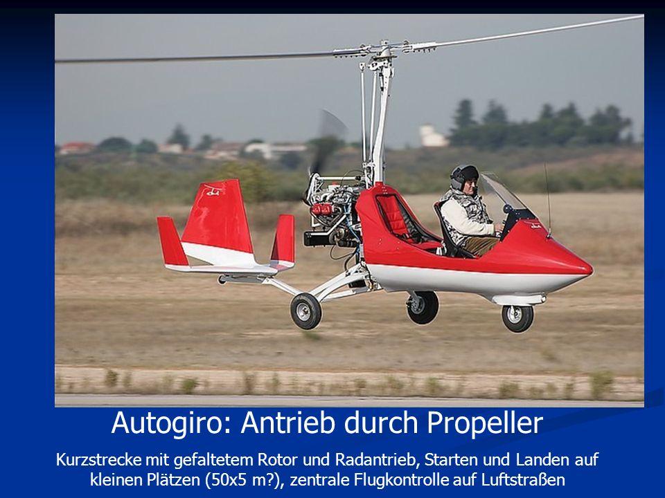 Autogiro: Antrieb durch Propeller