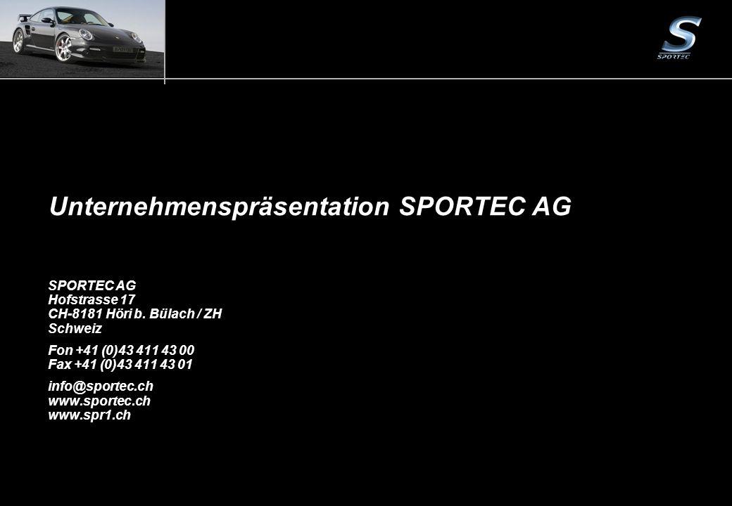 Unternehmenspräsentation SPORTEC AG