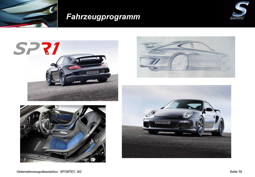 Fahrzeugprogramm Unternehmenspräsentation SPORTEC AG