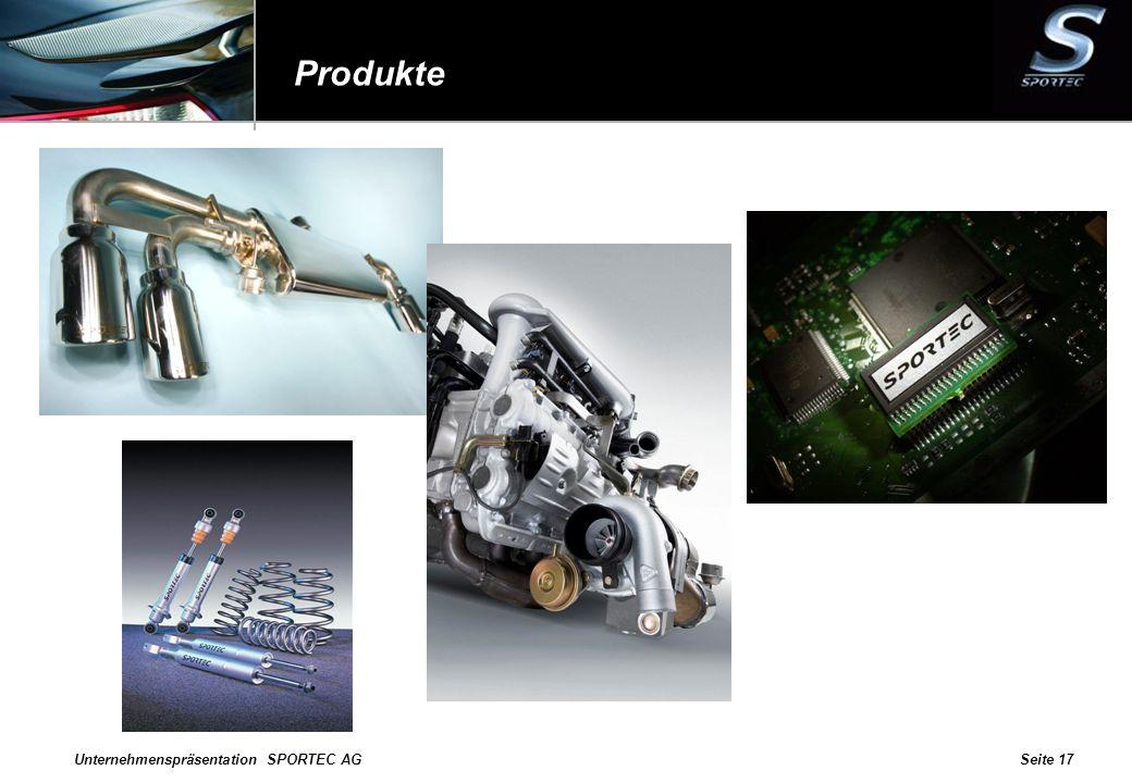 Produkte Unternehmenspräsentation SPORTEC AG