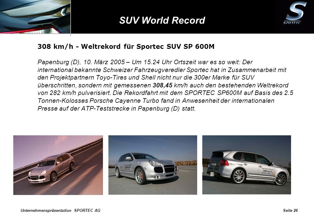 SUV World Record