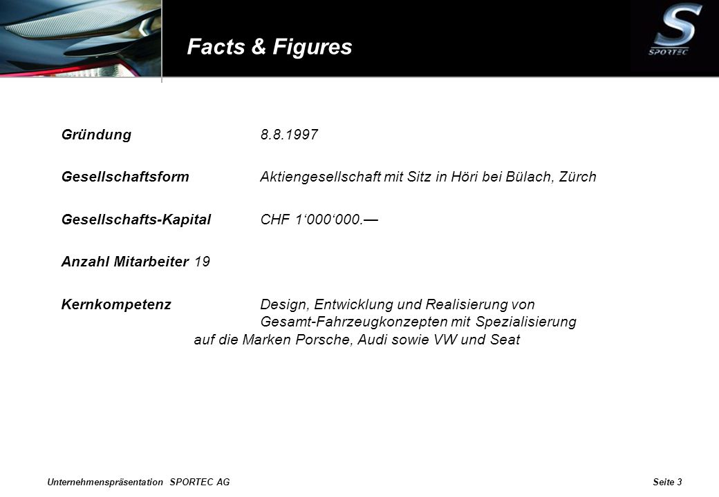 Facts & Figures Gründung