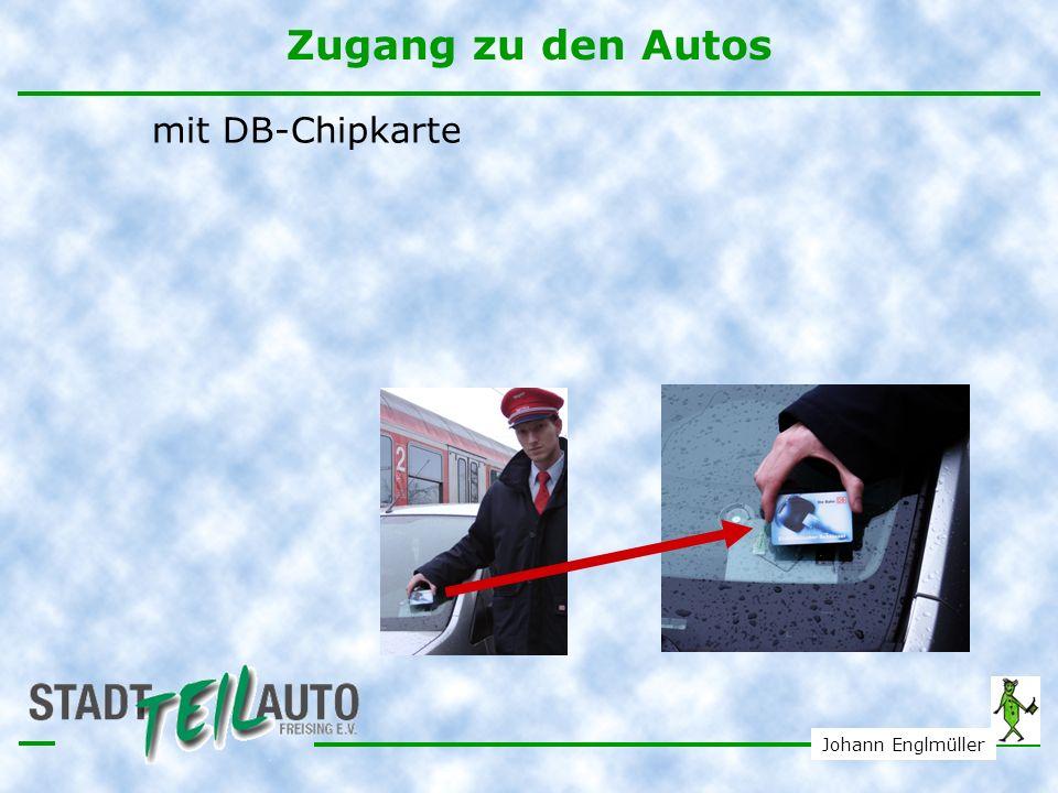 Zugang zu den Autos mit DB-Chipkarte