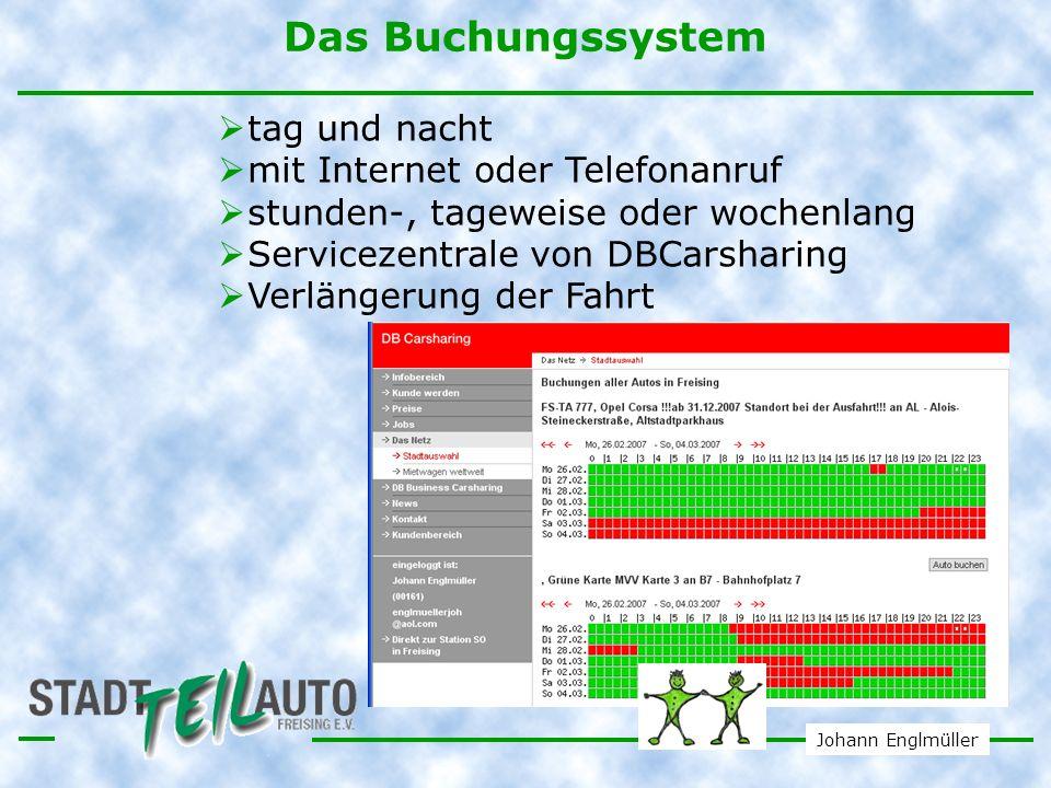 Das Buchungssystem tag und nacht mit Internet oder Telefonanruf