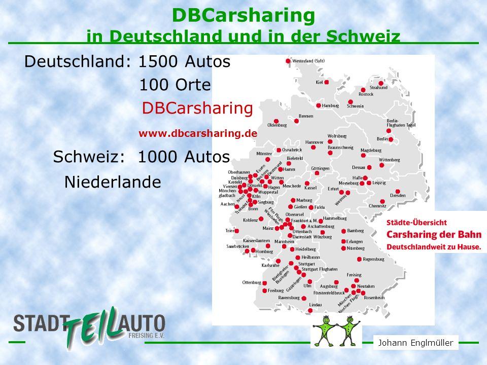 DBCarsharing in Deutschland und in der Schweiz