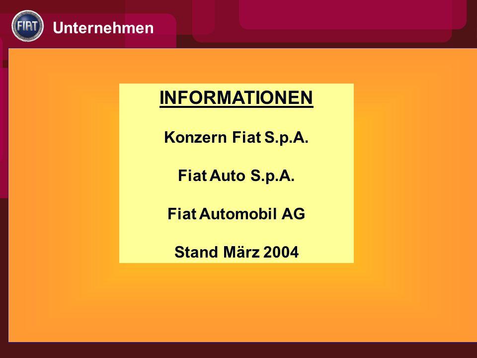 INFORMATIONEN Konzern Fiat S.p.A. Fiat Auto S.p.A.