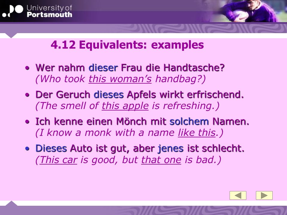 4.12 Equivalents: examples