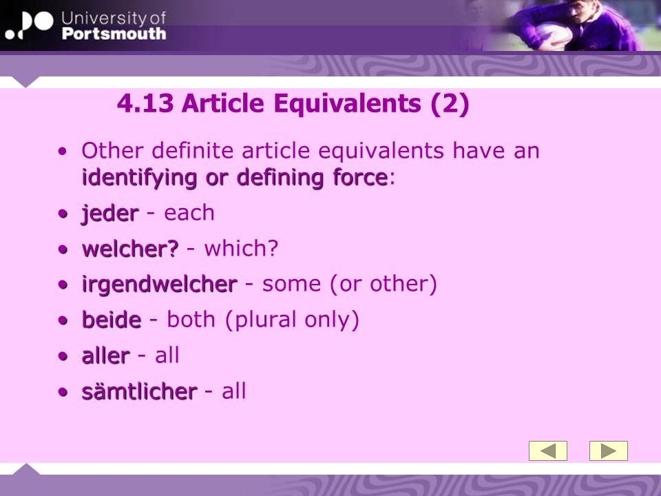 4.13 Article Equivalents (2)