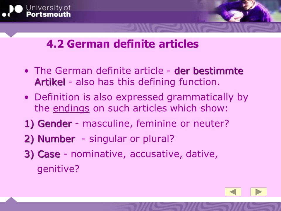 4.2 German definite articles