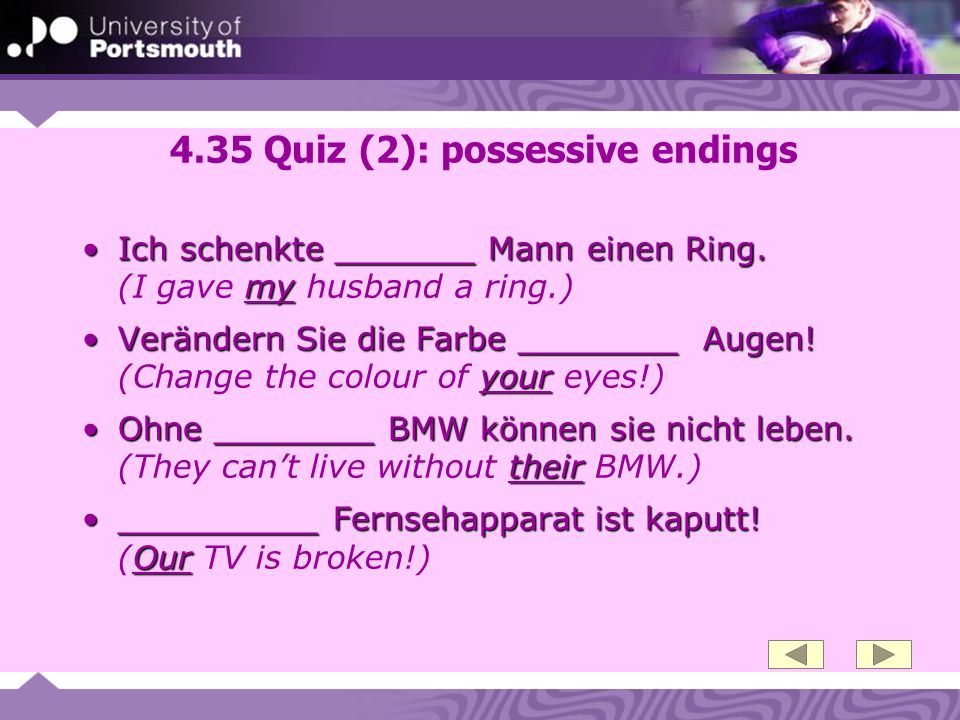 4.35 Quiz (2): possessive endings