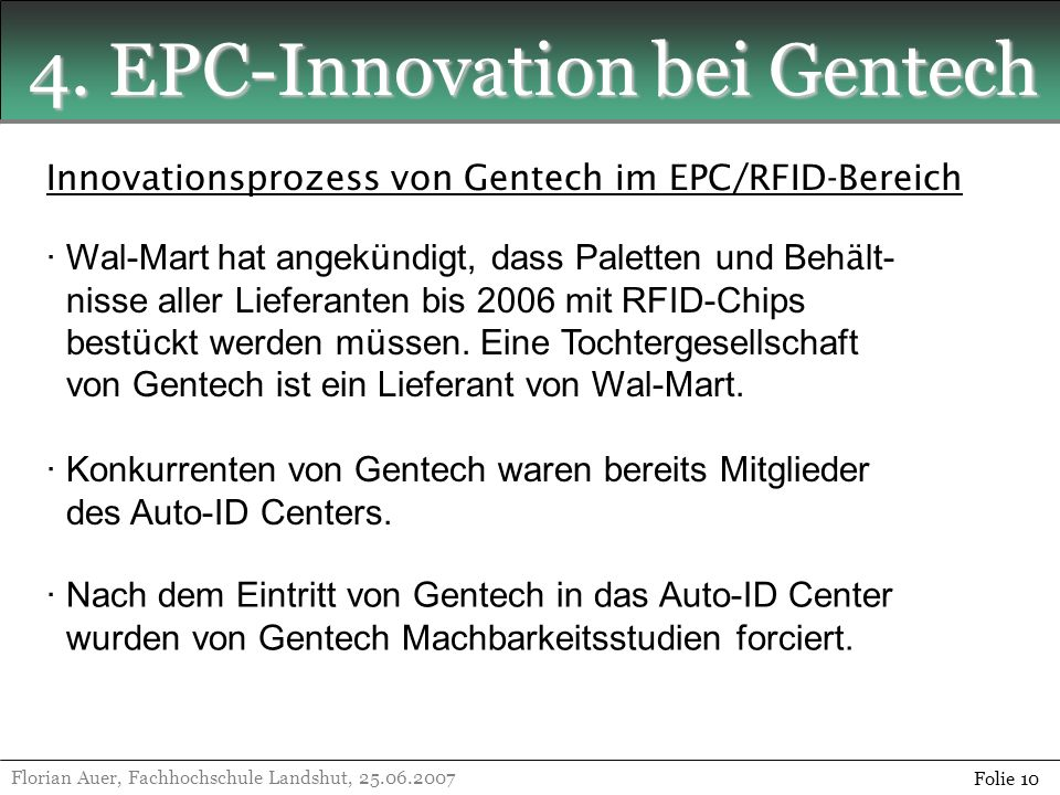 4. EPC-Innovation bei Gentech