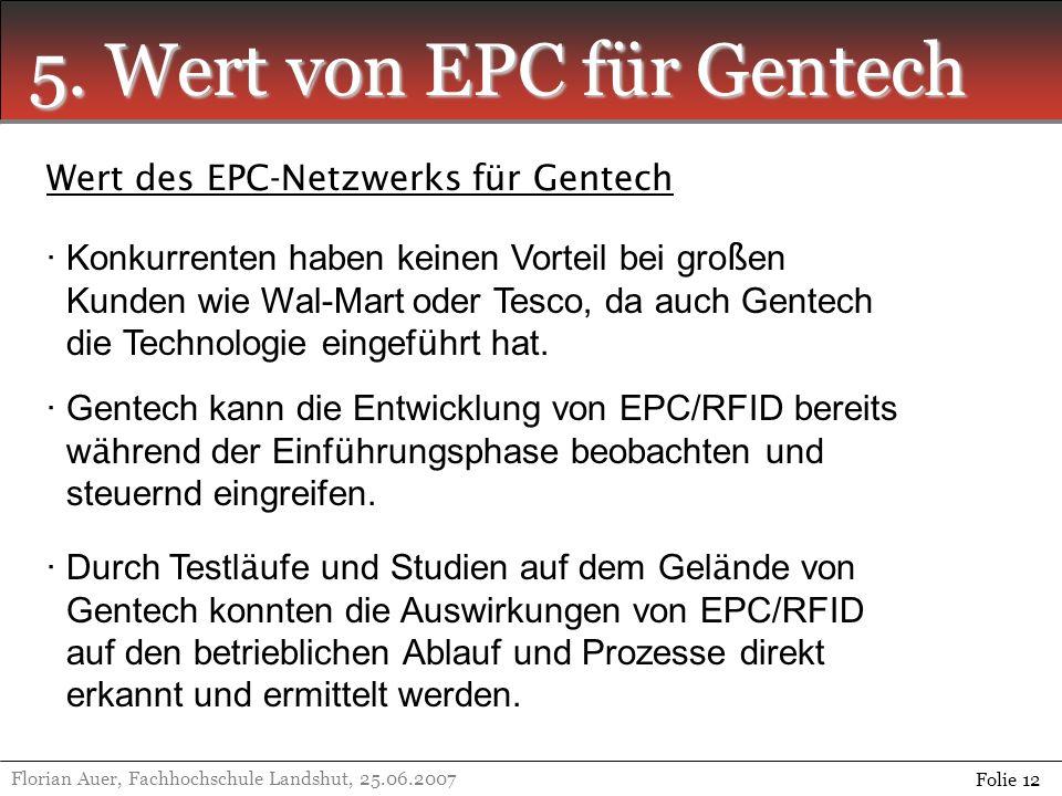 5. Wert von EPC für Gentech