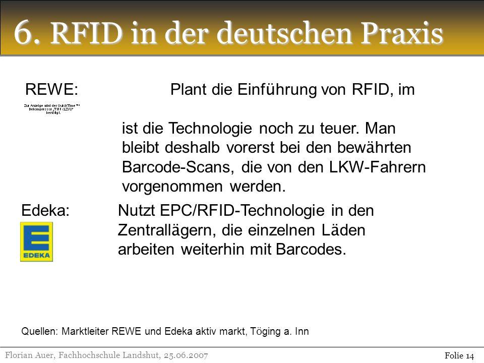 6. RFID in der deutschen Praxis