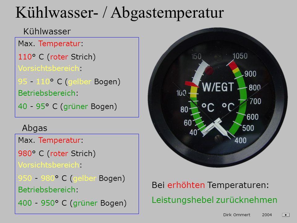 Kühlwasser- / Abgastemperatur