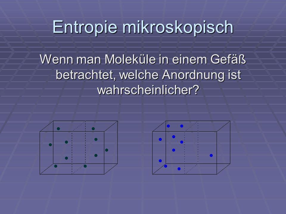 Entropie mikroskopisch