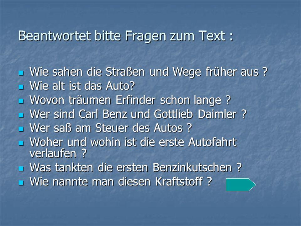 Beantwortet bitte Fragen zum Text :