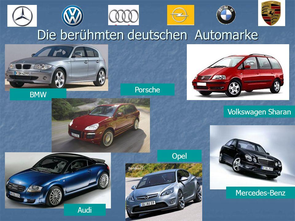 Die berühmten deutschen Automarke