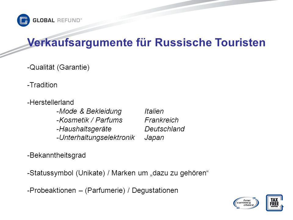 Verkaufsargumente für Russische Touristen