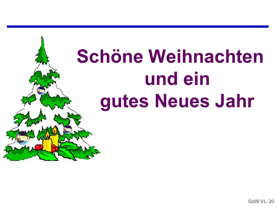 Schöne Weihnachten und ein gutes Neues Jahr