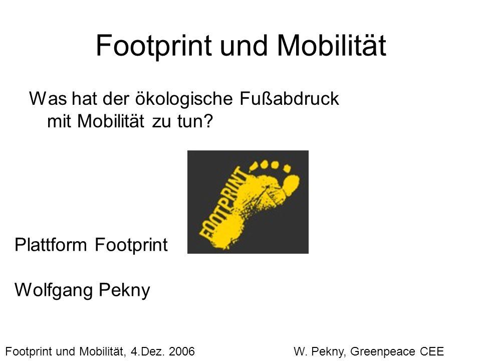 Footprint und Mobilität