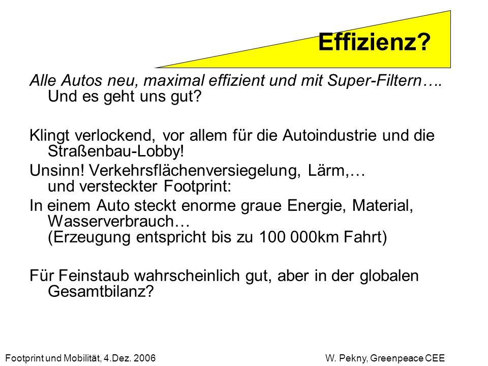 Effizienz Alle Autos neu, maximal effizient und mit Super-Filtern…. Und es geht uns gut