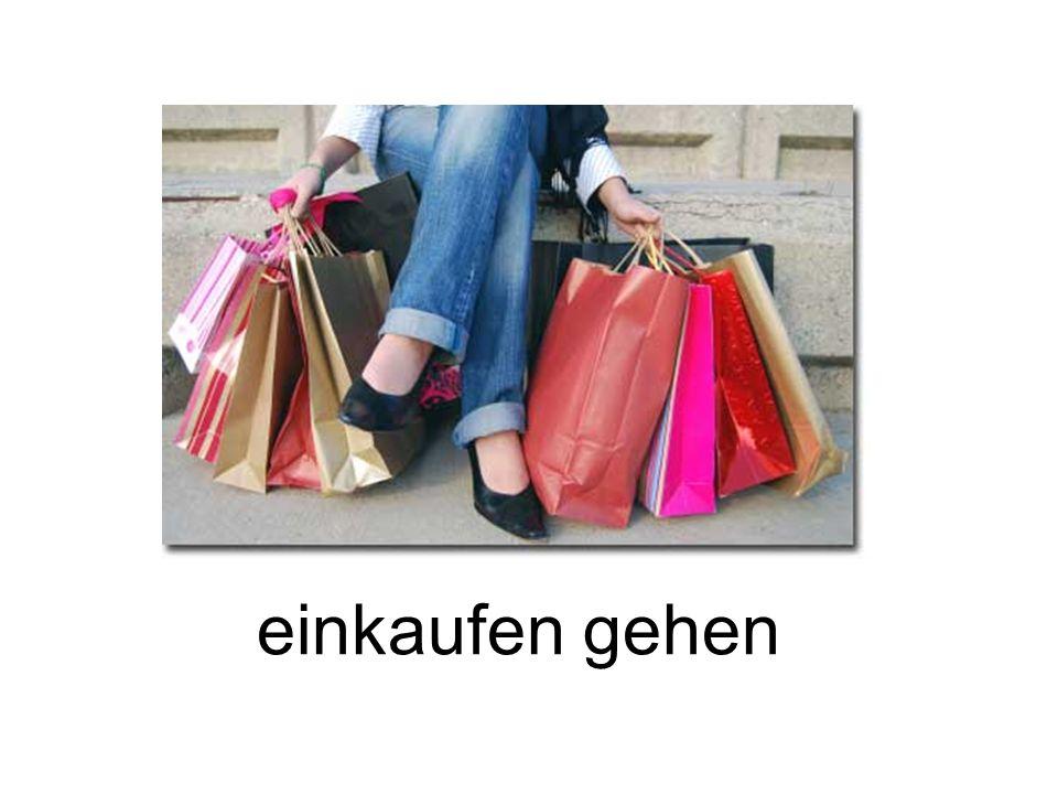 einkaufen gehen
