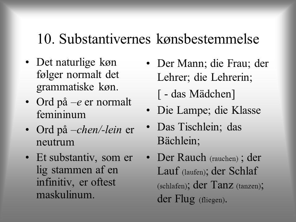 10. Substantivernes kønsbestemmelse