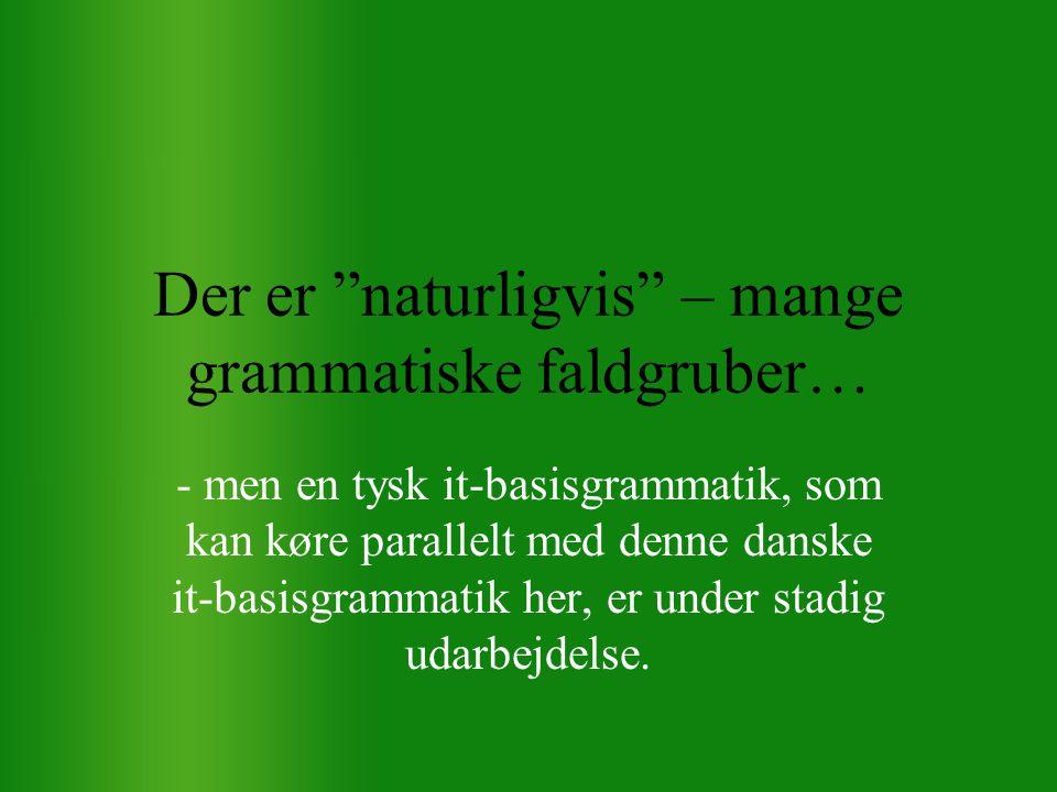 Der er naturligvis – mange grammatiske faldgruber…