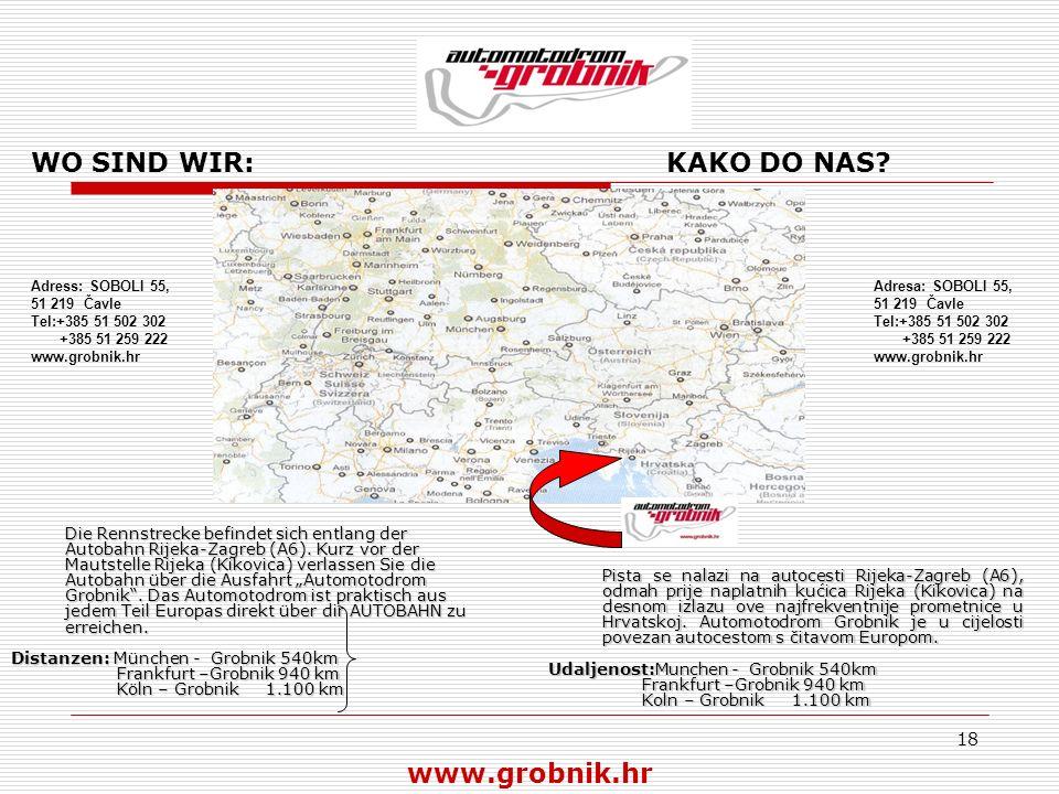 WO SIND WIR: KAKO DO NAS www.grobnik.hr