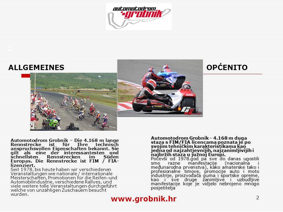 : ALLGEMEINES OPĆENITO www.grobnik.hr