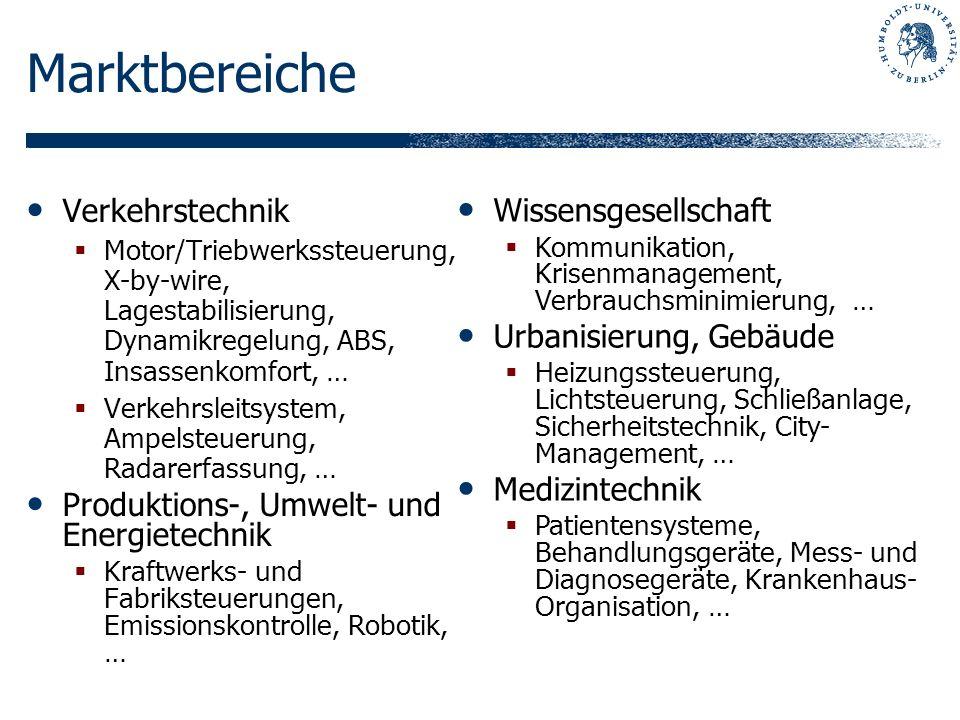Marktbereiche Verkehrstechnik Wissensgesellschaft