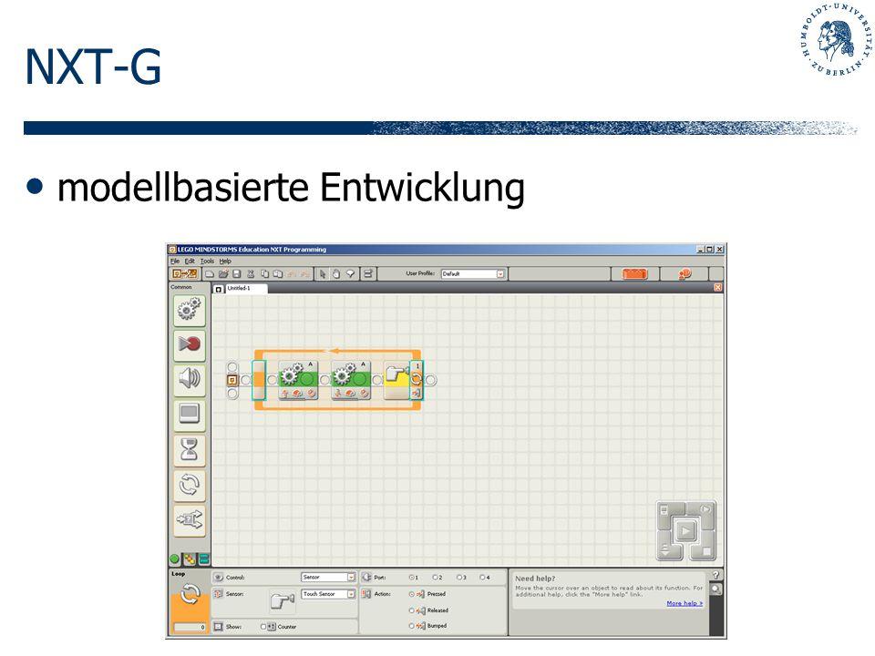 NXT-G modellbasierte Entwicklung