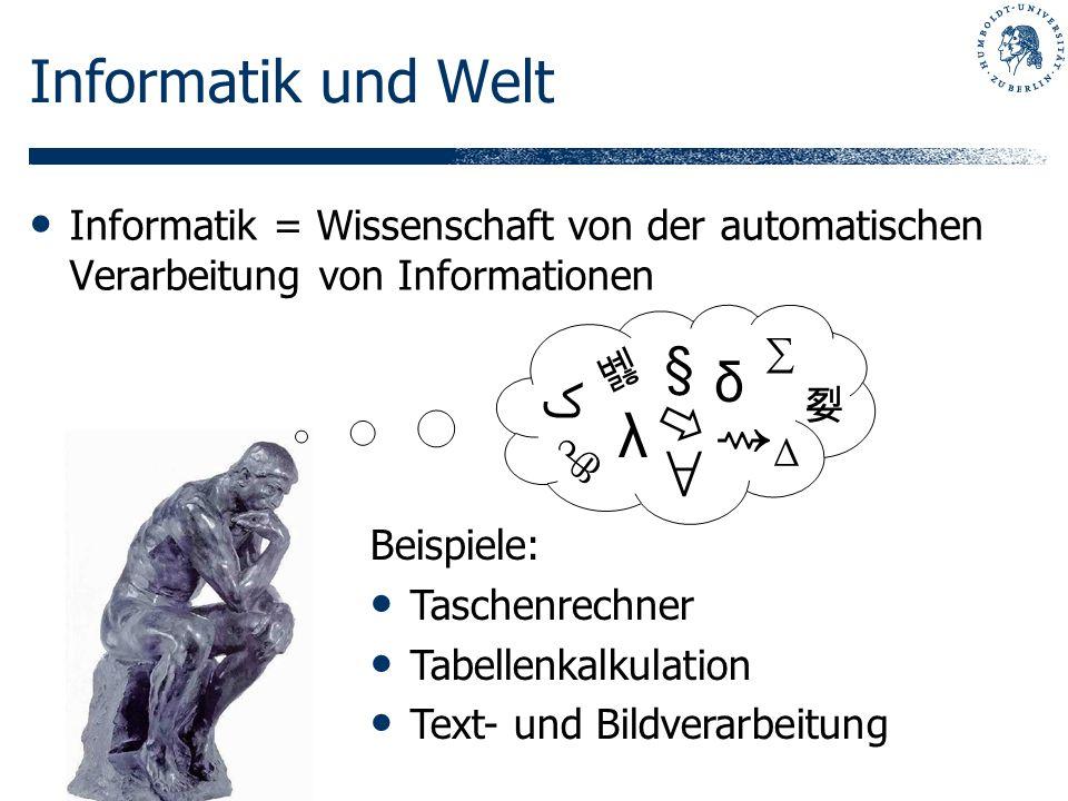 ⇝ ∀ Informatik und Welt  λ § δ ﮎ