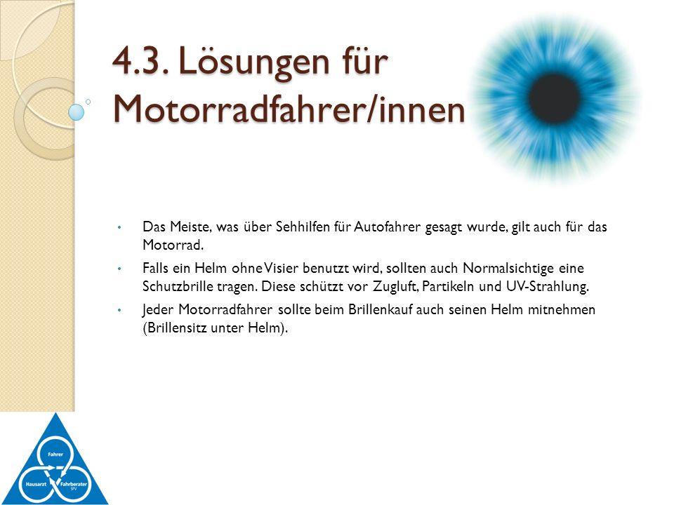 4.3. Lösungen für Motorradfahrer/innen