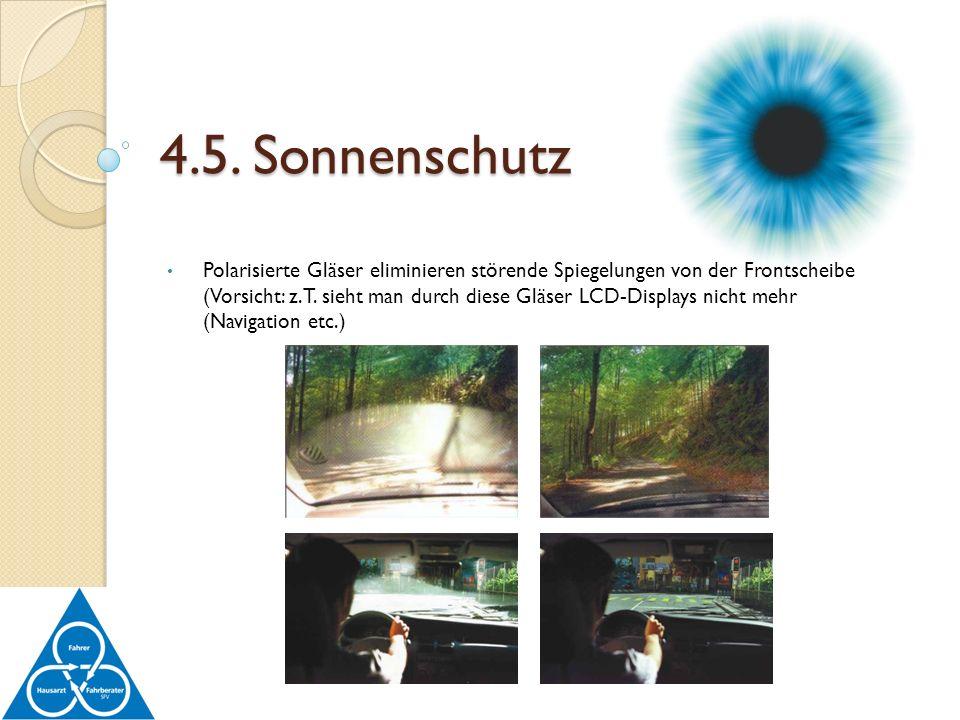 4.5. Sonnenschutz