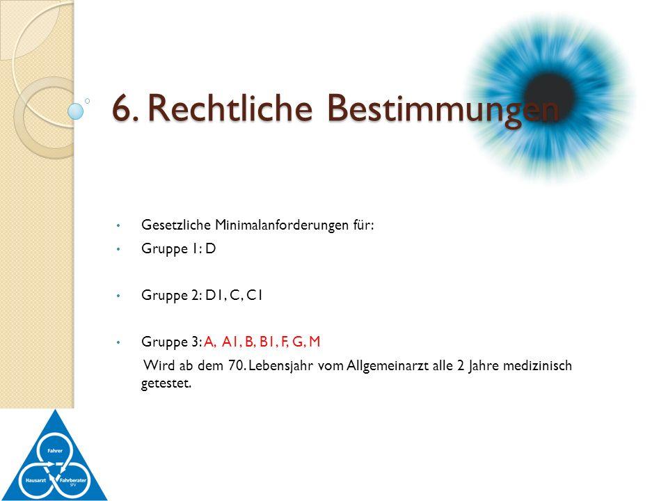 6. Rechtliche Bestimmungen
