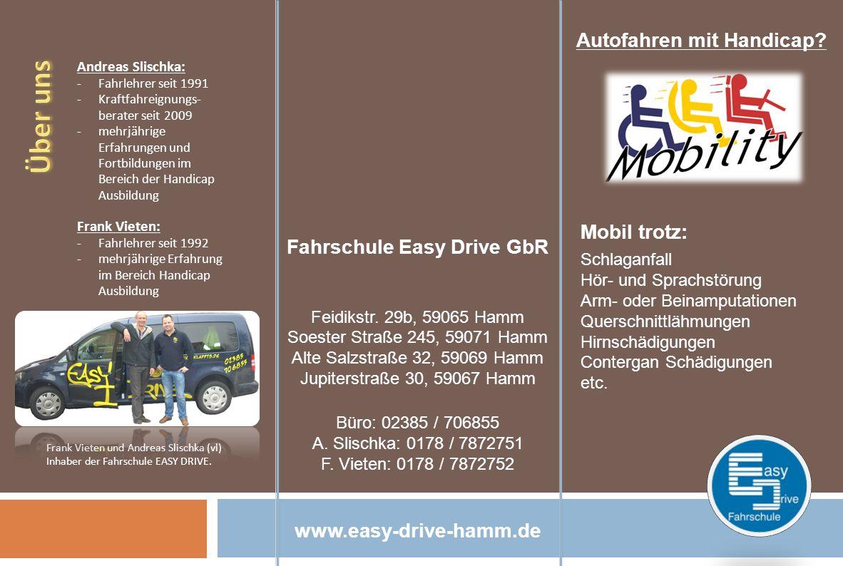 Fahrschule Easy Drive GbR Autofahren mit Handicap