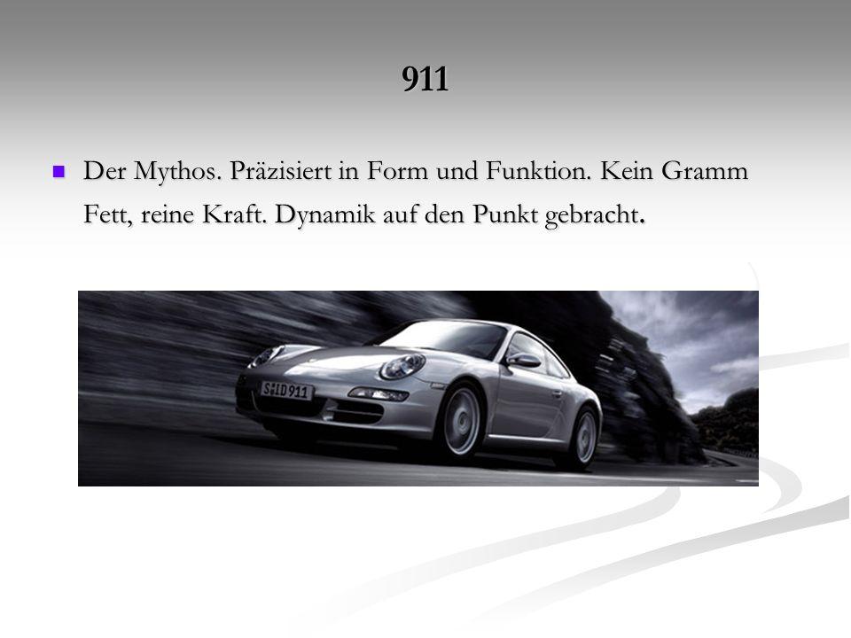911 Der Mythos. Präzisiert in Form und Funktion. Kein Gramm Fett, reine Kraft.