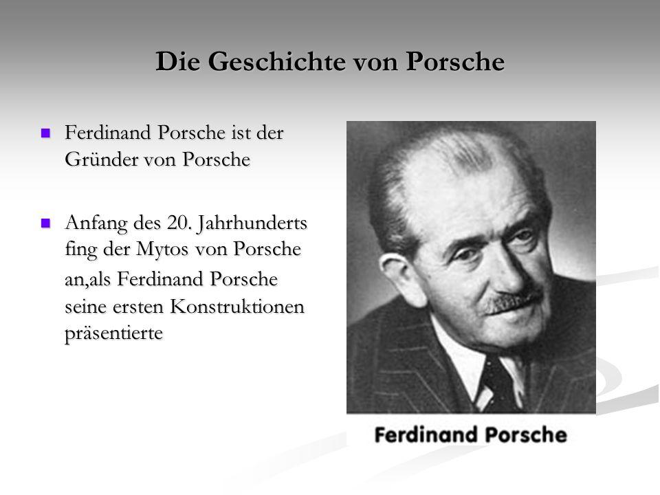 Die Geschichte von Porsche