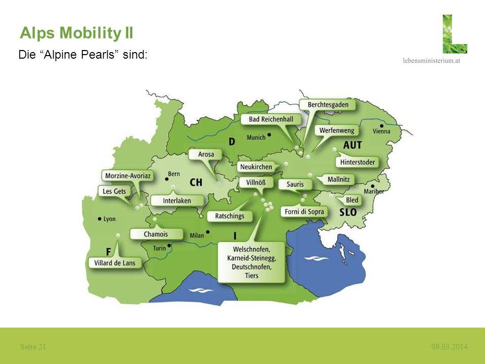 Alps Mobility II Die Alpine Pearls sind: