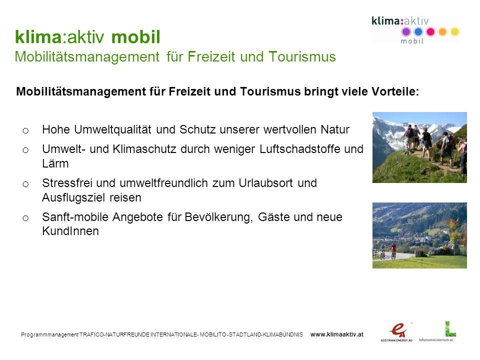 Mobilitätsmanagement für Freizeit und Tourismus bringt viele Vorteile: