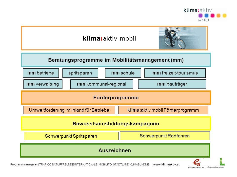 klima:aktiv mobil Beratungsprogramme im Mobilitätsmanagement (mm)