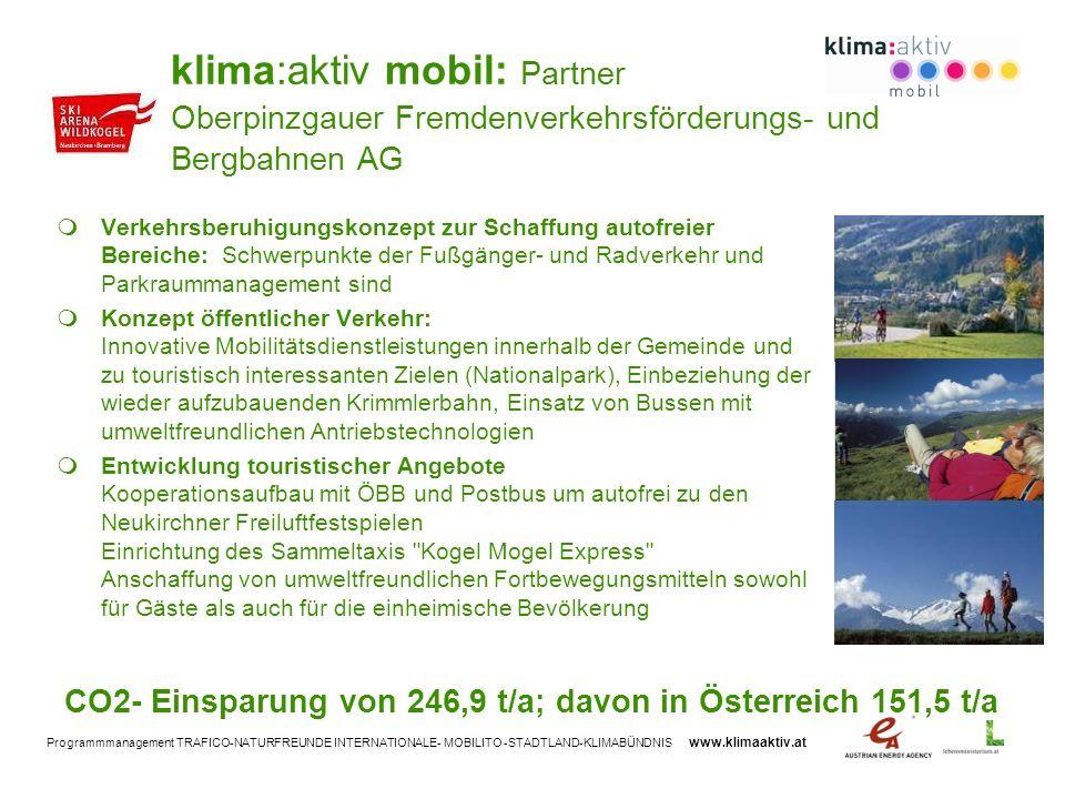 klima:aktiv mobil: Partner Oberpinzgauer Fremdenverkehrsförderungs- und Bergbahnen AG