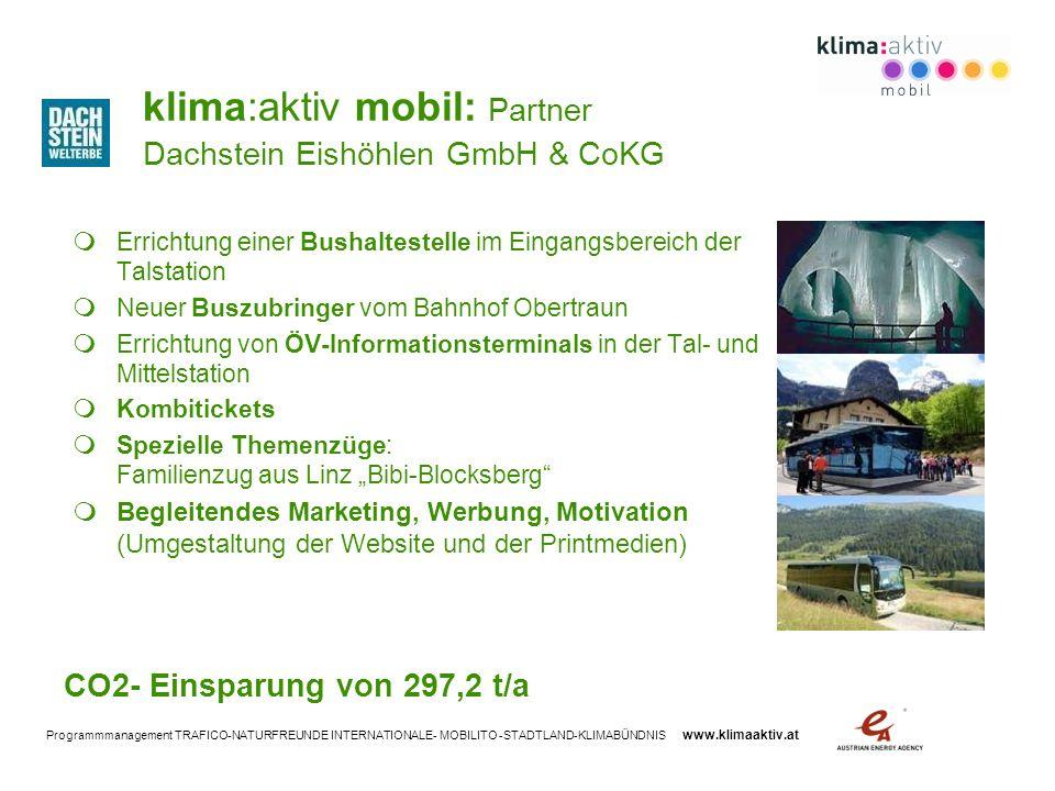 klima:aktiv mobil: Partner Dachstein Eishöhlen GmbH & CoKG