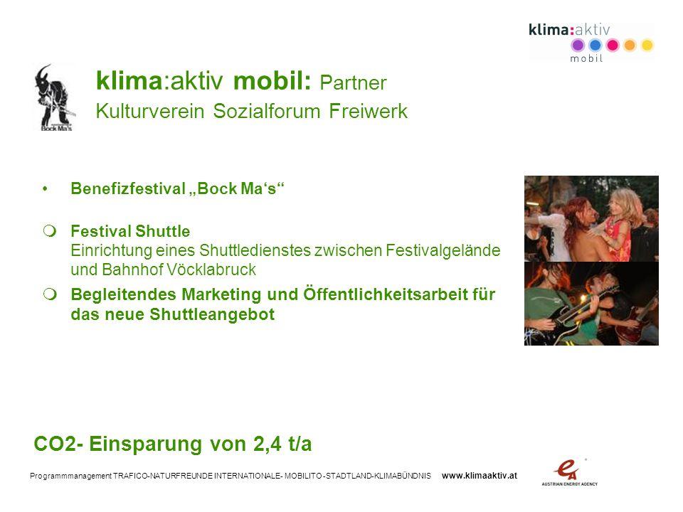 klima:aktiv mobil: Partner Kulturverein Sozialforum Freiwerk